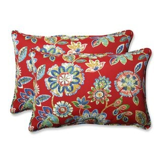 Pillow Perfect Outdoor/ Indoor Daelyn Cherry Throw Pillow (Set of 2)