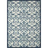 Nourison Home and Garden Blue Indoor/ Outdoor Rug (4'4 x 6'3)