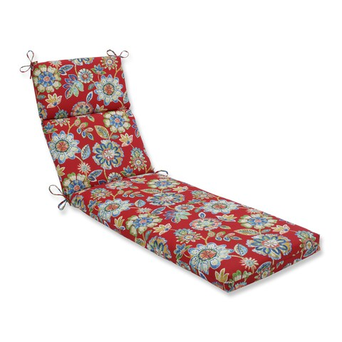 Pillow Perfect Outdoor/ Indoor Daelyn Cherry Chaise Lounge Cushion