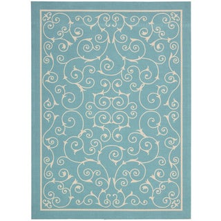 Nourison Home and Garden Light Blue Rug (4'3 x 6'3)