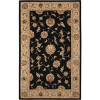 Nourison Silk Touch Black Rug (5' x 8') - 5' x 8'