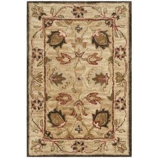 Safavieh Handmade Antiquity Beige/ Beige Wool Rug (3' x 5')