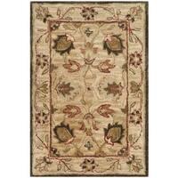 Safavieh Handmade Antiquity Beige/ Beige Wool Rug - 3' x 5'