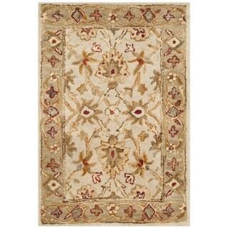 Safavieh Handmade Antiquity Grey Beige/ Sage Wool Rug (3' x 5')