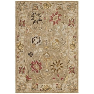 Safavieh Handmade Antiquity Taupe/ Beige Wool Rug (3' x 5')