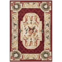 Safavieh Hand-hooked Easy to Care Ivory/ Red Rug - 3' x 5'