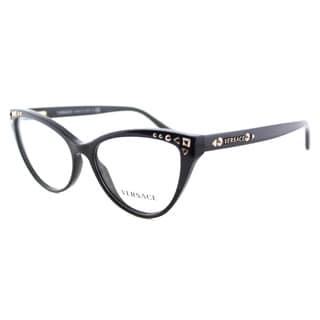 Versace Women's VE 3191 GB1 Black Plastic 54-millimeter Cat-eye Eyeglasses