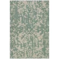 Safavieh Handmade Restoration Vintage Grey / Turquoise Wool Distressed Area Rug - 3' x 5'