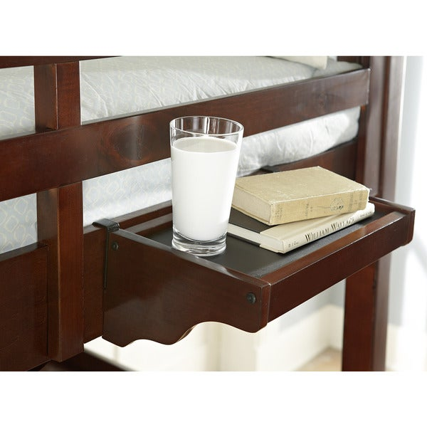 NE Kids Walnut Street Chestnut Wood and Veneer Hanging Nightstand