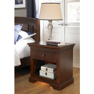 Walnut Street 9530 Chestnut Brown Wood Veneer Power/Lite Nighstand