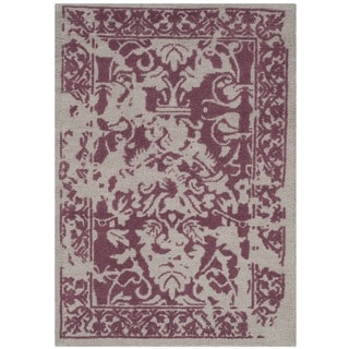 Safavieh Handmade Restoration Vintage Silver/ Purple Wool Distressed Rug (3' x 5')