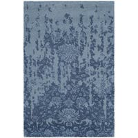 Safavieh Handmade Restoration Vintage Blue/ Dark Blue Wool Distressed Rug - 3' x 5'