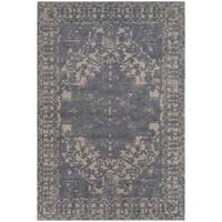 Safavieh Handmade Restoration Vintage Oriental Blue/ Grey Wool Rug (3' x 5')
