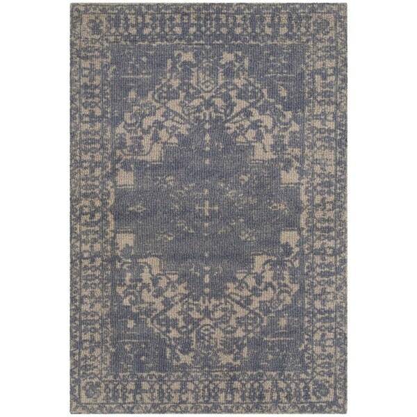safavieh handmade restoration vintage oriental blue/ grey wool rug