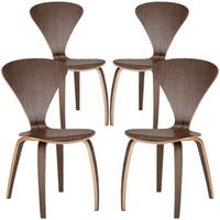 Poly and Bark Sofia Wood Dining Chairs (Pack of 4)