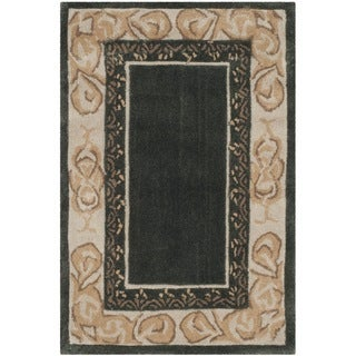 Safavieh Hand-hooked Total Perform Slate/ Ivory Acrylic Rug (3' x 5')