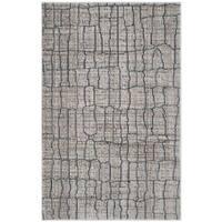 Safavieh Valencia Grey/ Multi Distressed Silky Polyester Rug - 3' x 5'
