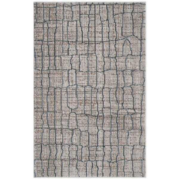 Safavieh Valencia Grey/ Multi Distressed Silky Polyester Rug - 3' x 5'