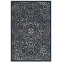 Safavieh Vintage Blue/ Light Grey Distressed Silky Viscose Rug (3' 3 x 5' 7)