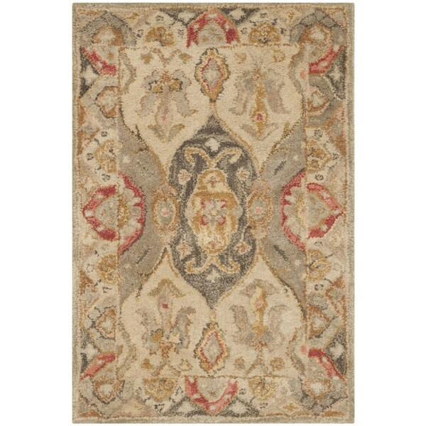Safavieh Handmade Antiquity Beige/ Multi Wool Rug - 2' x 3'