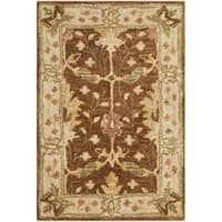 Safavieh Handmade Antiquity Brown/ Beige Wool Rug (2' x 3')