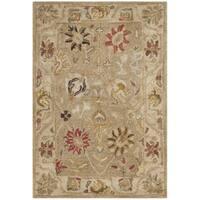 Safavieh Handmade Antiquity Taupe/ Beige Wool Rug - 2' x 3'