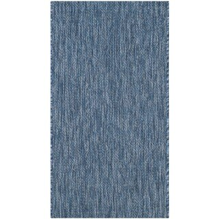 Safavieh Indoor/ Outdoor Courtyard Navy/ Navy Rug (2' x 3' 7)
