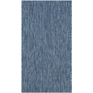 Safavieh Indoor/ Outdoor Courtyard Navy/ Navy Rug - 2' x 3'7
