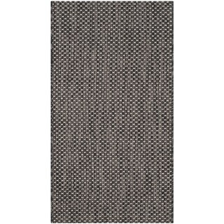 Safavieh Indoor/ Outdoor Courtyard Black/ Beige Rug (2' x 3' 7)