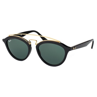 Ray-Ban RB 4257 601/71 Gatsby II Black Plastic Fashion Sunglasses with Green Lens