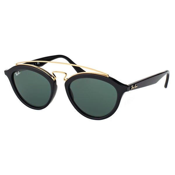 265c9415fa Ray-Ban RB 4257 601 71 Gatsby II Black Plastic Fashion Sunglasses with Green