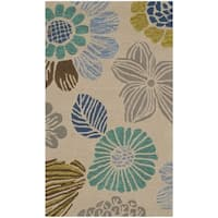 Safavieh Hand-Hooked Four Seasons Grey Floral Rug - 2'3 x 3'9