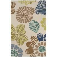 Safavieh Hand-Hooked Four Seasons Beige Floral Rug - 2'3 x 3'9
