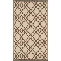 Safavieh Hand-Hooked Four Seasons Ivory / Dark Brown Rug - 2'3 x 3'9
