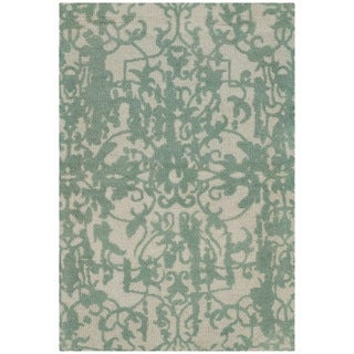 Safavieh Handmade Restoration Vintage Grey / Turquoise Wool Distressed Area Rug (2' x 3')