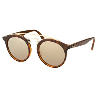 Ray-Ban RB 4256 60925A Gatsby I Matte Havana Plastic Fashion Sunglasses with Gold Mirror Lens