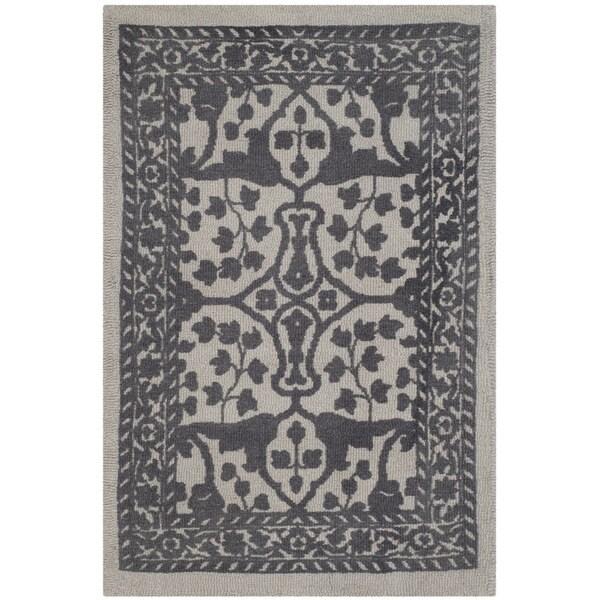 Safavieh Handmade Restoration Vintage Silver/ Grey Wool Rug - 2' x 3'