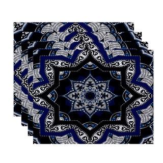 18x14-inch Shawl Geometric Print Placemat