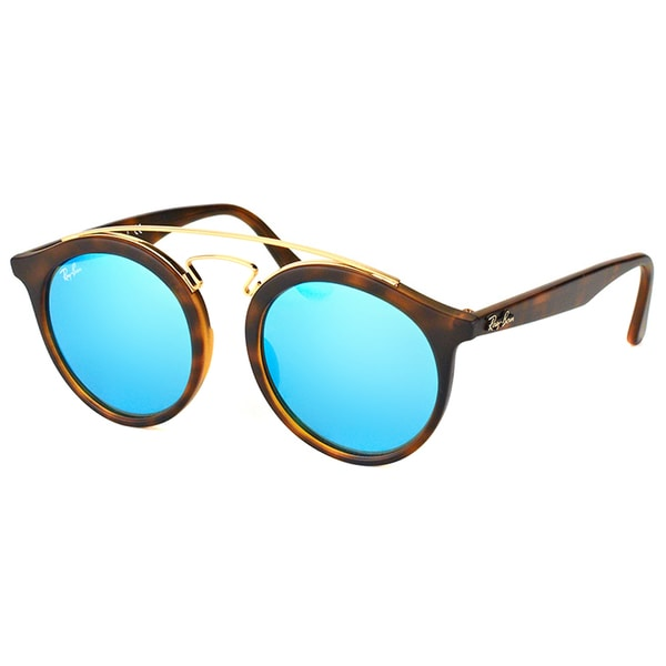 d774b404fc Ray-Ban RB 4256 609255 Gatsby I Matte Havana Plastic Fashion Sunglasses  with Blue Mirror