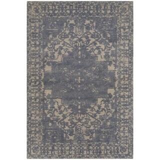 Safavieh Handmade Restoration Vintage Oriental Blue/ Grey Wool Rug (2' x 3')