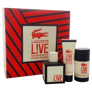 Lacoste Live Men's 3-piece Gift Set