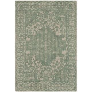 Safavieh Handmade Restoration Vintage Oriental Grey / Ivory Wool Rug (2' x 3')