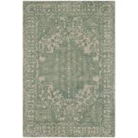 Safavieh Handmade Restoration Vintage Oriental Green / Ivory Wool Rug - 2' x 3'