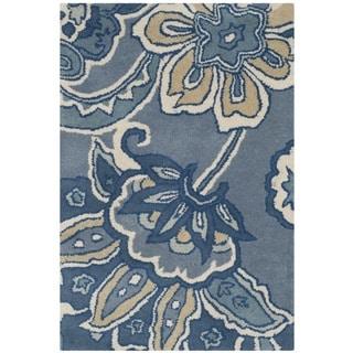Safavieh Hand-Tufted Soho Blue/ Multi Wool/ Viscose Rug (2' x 3')