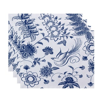 18x14-inch Traditional Bird Floral Floral Print Placemat (Set of 4)