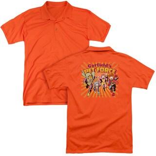 Garfield/Pet Force Burst (Back Print) Mens Regular Fit Polo in Orange