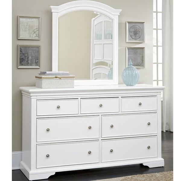 Shop Ne Kids Walnut Street White Wood 7 Drawer Dresser