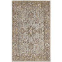Safavieh Valencia Grey/ Multi Distressed Silky Polyester Rug (2' x 3')