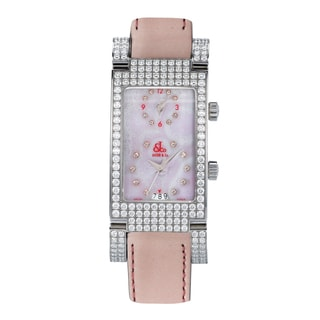 Jacob & Company JCA22 Angel Collection Two Time Zone Diamond Bezel Watch