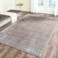 Safavieh Valencia Grey/ Multi Abstract Distressed Silky Polyester Rug - 2' x 3'